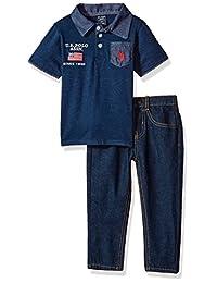 U.S. Polo Assn.. - Polo y pantalón para niño