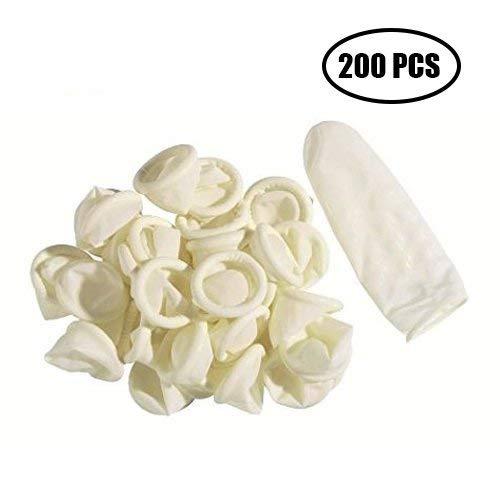 200 PCS Fingerlinge Antistatisch Fingerschutz Latex Finger Cot fü r Kosmetik Medizin G2PLUS