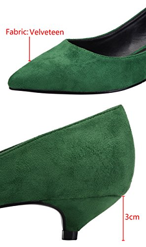 Classico CAMSSOO Classico CAMSSOO Green donna donna Green Suede vOqwaCnpxx