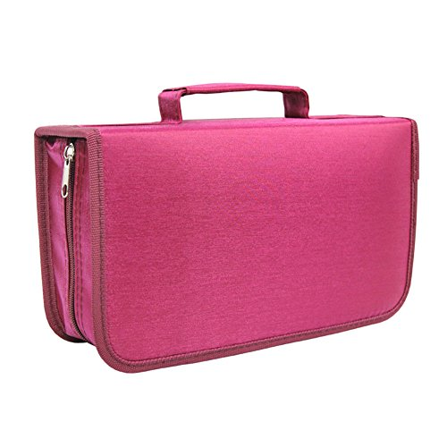Yamde 128 Capacity Classic CD/DVD case Wallet, storage,holder,booklet,cases binder (Rosa) 128 Capacity Cd