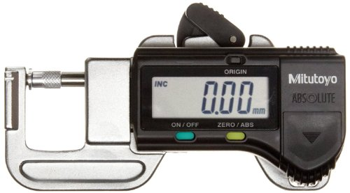 118 Wire Gauge - Mitutoyo 700-118-20 Quick Mini Digital Thickness Gauge, Inch/Metric, 0-0.5