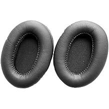 Ear Pad Earpads Leather Cushion Repair Parts for Philips O'Neill SHO9560 SHO9561 SHO9565 SHO9567 headphones(earmuffes) headset (Black)