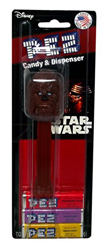 Disney Star Wars Episode 7 Pez Candy and Dispenser on Blister Card (Chewbacca) (Chewbacca Pez Dispenser compare prices)