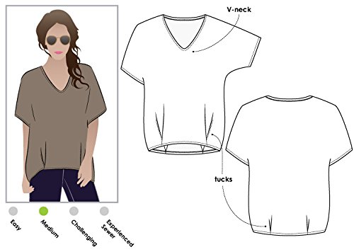Style Arc Sewing Pattern - Daphne Tunic (Sizes 04-16) - Click for Other Sizes Available by Style Arc