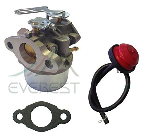 NEW CARBURETOR REPLACES TECUMSEH HSK40 HSK50 HS50 HSSK40 HSSK50 HSSK55 CARBURETOR WITH PRIMER BULB GASKET & FUEL LINE by Everest Parts Supplies