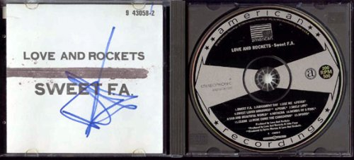 - LOVE & ROCKETS Signed SWEET F.A. Autographed full CD