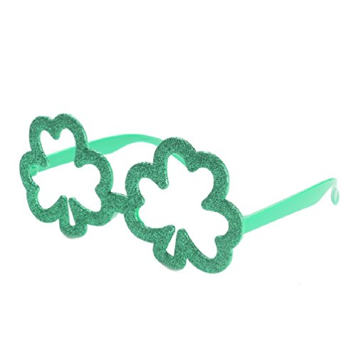 Green Clover Irish Charms Costumes Glasses Fancy Dress Novelty Frame for Birthday Party Supplies Events Decoration (Nerd Costume Spirit Halloween)
