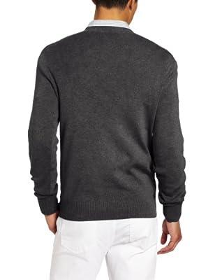 Calvin Klein Men's Ottoman Full Needle V-Neck Sweater
