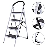 Toolsempire Folding Heavy Duty Industrial Lightweight 4 Step Ladder 330 lbs Capacity