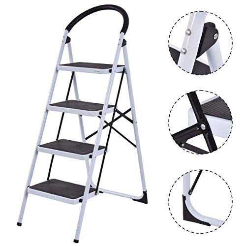 Toolsempire Folding Heavy Duty Industrial Lightweight 4 Step Ladder 330 lbs Capacity by Toolsempire