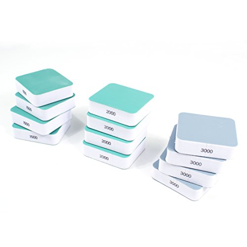 Mini Hand Sanding Blocks for Denibbing PDR - 12 pcs (1500, 2000, 3000 grit) (Foam 2000)