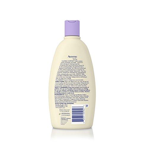 Large Product Image of Aveeno Baby Calming Comfort Bath Wash, Tear Free, Lavender & Vanilla, 18 Fl. Oz.