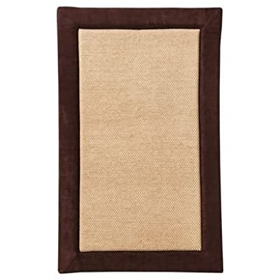 Magnificent Memory Foam Kitchen Mat, 20 X 32 inch, Bath Mat, Bedroom Mat, Non-slip Mat - Soft and stylish - Brown - Best kitchen bath mat - soft and elegant kitchen bath rug, feels great on your feet - non slip skid resistant backing makes it ideal for dry, wet surfaces, will not SLIP, FOLD or BEND. Memory foam cushioning ultra-soft memory foam kitchen bath mat features amazing rich feel under your feet every time you step on it. Luxury comfort and elegance perfect for your kitchen bedroom vanity bath tub and living room - Ease foot pressure and relieve foot fatigue eye catching border - bathroom-linens, bathroom, bath-mats - 412FTxs stL. SS400  -