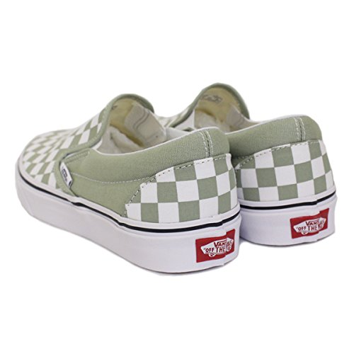 Classic White Trainers Women's Slip Vans Sage true Desert checkerboard on T6w7x5q