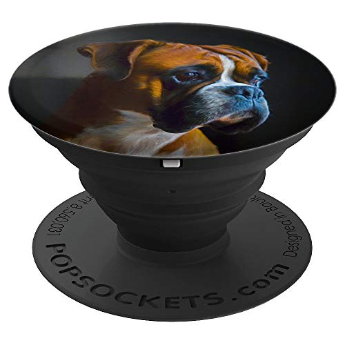 - Boxer Dog Lover Puppy Art Gift - PopSockets Grip and Stand for Phones and Tablets