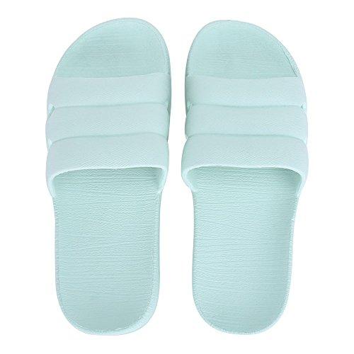 William & Kate Printemps Été Unisexe Ménage Pantoufle Casual Anti-dérapant Salle De Bains Pantoufles Doux Léger Sandale Intérieur Et Extérieur Couple Pantoufles Bleu