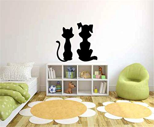 Art Decals Letters Quotes Decoration Nursery Animal Wall Sticker Cat and Dog for Nursery Kids Room Boys Girls Room ()