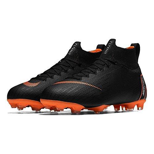 Nike Jr. Mercurial Superfly 360 Elite Big Kids' Firm-Ground Soccer Cleat (4.5Y, Black/Total Orange/White) by Nike (Image #2)