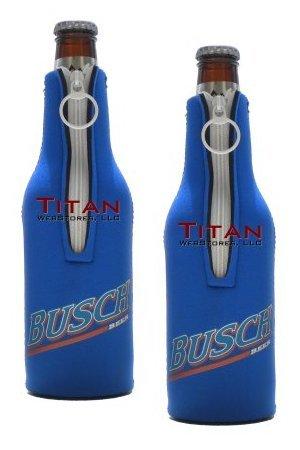 Busch Bottle Suits   Neoprene Beer Koozies   Set Of 2