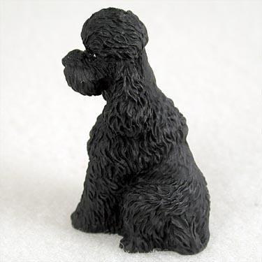(Poodle Sportcut Miniature Dog Figurine - Black)