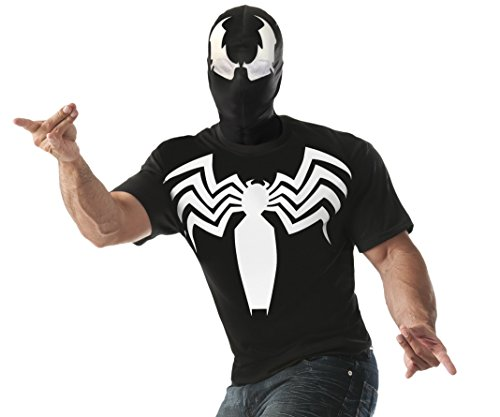 Venom Costumes For Men (Rubie's Costume Co Men's Marvel Universe Venom T-Shirt, Multi, Large)