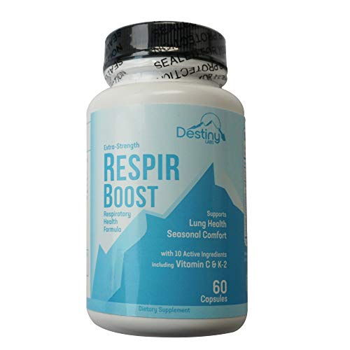 Respir-Boost - Lung Cleanse & Detox - Supports Lungs and Respiratory System for Seasonal Comfort - 10 Active Ingredients - to Help Flush Lungs (60)