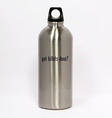got-billets-doux-silver-water-bottle-small-mouth-20oz