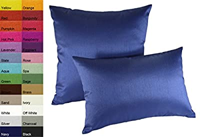 Creative Solid Faux Silk Euro Shams / Throw Pillow Covers 26 by 26 - Royal