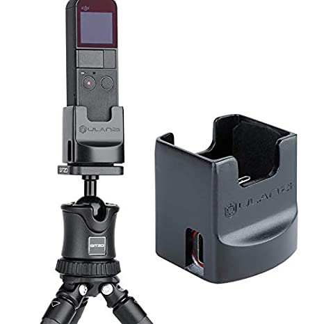 Sutefoto Jaula de Aluminio Compatible para dji Osmo Pokcet,Soporte de Mano para Soporte de Metal con Tr/ípode LED de Soporte de Tornillo de 1//4 Aplicado para Osmo Pokcet