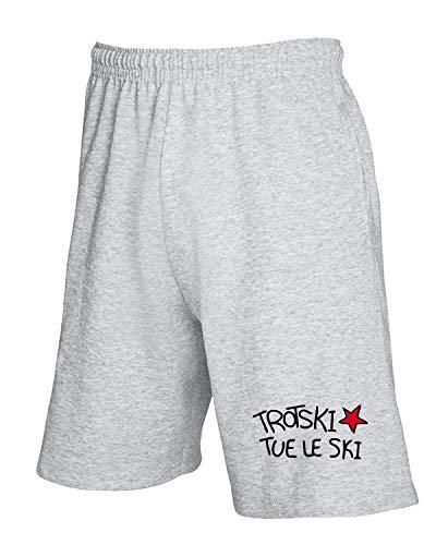 Le Tue Tco0132 T shirtshock Pantaloncini Trotski Tuta Ski Grigio nqn70wYv