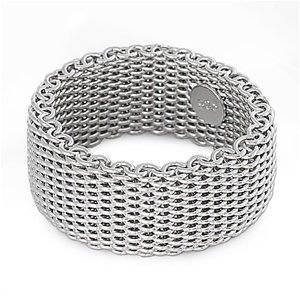 Mesh Ring Sterling Flexible Silver - 10MM (3/8in)