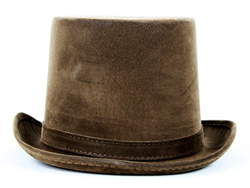 Faux Leather Steampunk Top Hat (Christmas Caroler Hat)