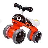 Skateboards 54cm Child Balance Car Orange Pedal Slide Car 1-3 Years Old Beginner Baby Yo Car Walker Scooter (Color : Orange, Size : 54 * 20 * 41cm)