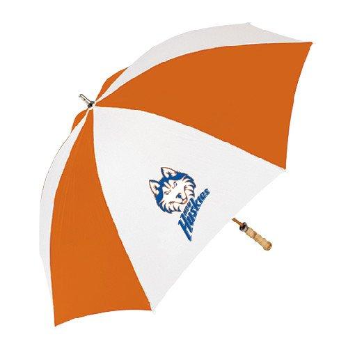 ヒューストンBaptist 62インチオレンジ/ホワイト傘'ハスキーヘッドW / HBU Huskies '   B00FO2FE3M