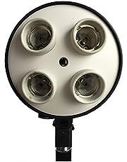 Estudio Fotográfico DynaSun SLH3 4en1 E27 Soporte de Enchufe Adaptador con 4 Bombillas de Lámpara