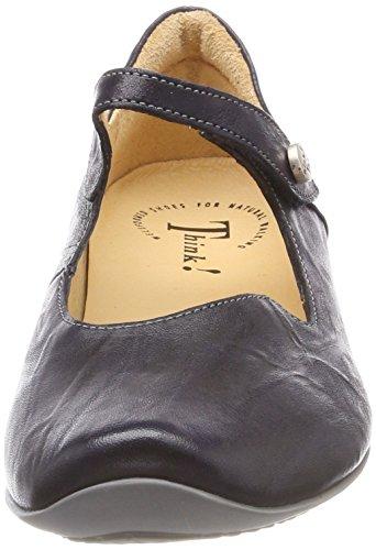 navy kombi Strap Women's Flats Ballet Chilli Think Blue 282107 88 Ankle qTxw8fS4