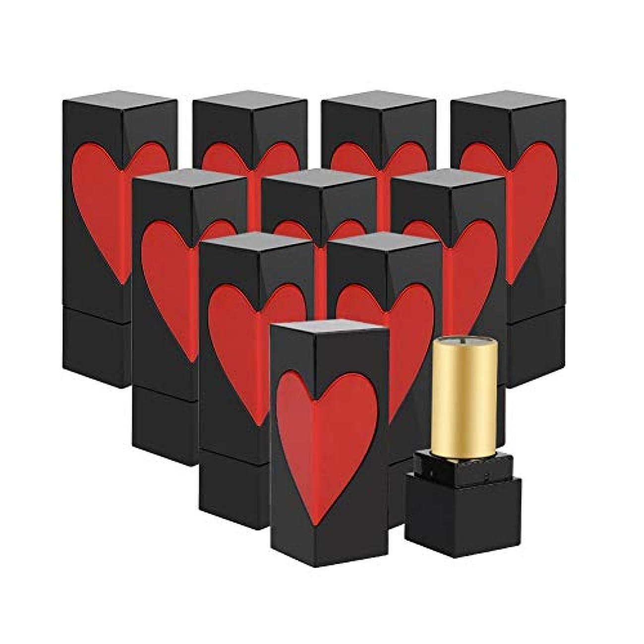 願う試用アルカトラズ島空口紅チューブ、かわいい 手作りリップスティックコンテナ 美しい外観 プラスチック製 口紅チューブ用 DIY用 2スタイル選べる(10枚)