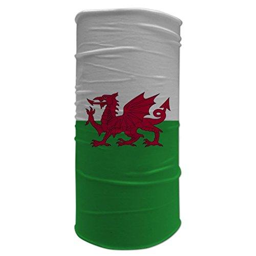 Tubular Neck Warmer 12 in 1 Sports Bandana Welsh Flag Biker Balaclava Head Wrap (Morf Suit)
