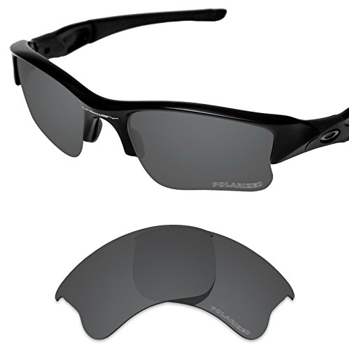 235df23157c Tintart Performance Replacement Lenses for Oakley Flak Jacket XLJ Sunglass  Polarized Etched-Carbon Black