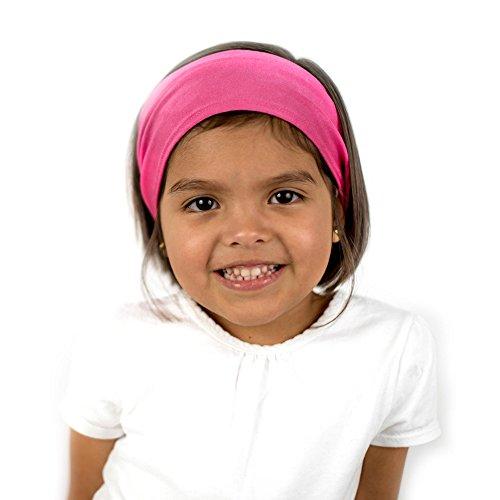 Everfan Kids Magenta Headband | Athletic Stretch Sweatband for Running Yoga and (Kids Magenta Apparel)