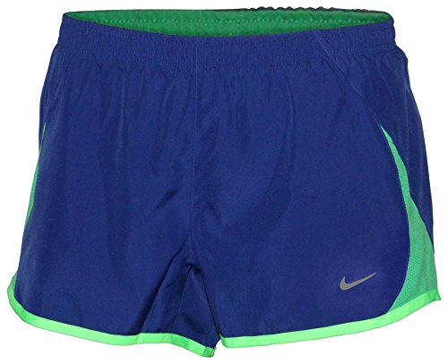 Nike Women's Pacer Lined Built-in-Brief Tempo Running Shorts-Navy Blue-Large (Blue Shorts Tempo Ladies Navy)