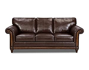 Marvelous Simmons Upholstery 8001 03 San Diego Coffee Bonded Leather Sofa