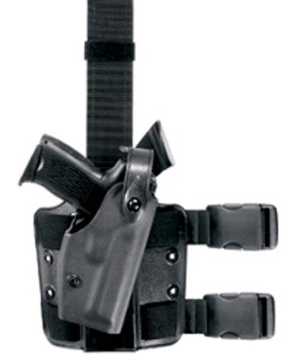 (Safariland 6004 1911-A1 Operator STX Black Tactical Holster with Rails with Surefire X200, X300, Right Hand)