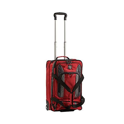 tram-20in-rolling-duffel-bag-retractable-pull-handle-split-level-storage-crimson