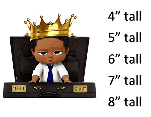 African American Boss Baby Boy Royal Prince Crown Briefcase Edible Cake Topper Cupcakes Boss Baby Cake Cupcakes Babies Of Color Royal Prince Baby Frosting Sheet 6 Tall Buy Online In Albania At