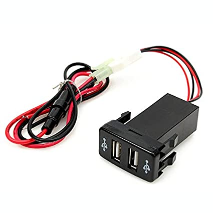 Coche Cargador - TOOGOO(R)Universal Dual USB 12V Coche Mechero Lighter Cargador Adaptador Toma Socket for TOYOTA VIGO