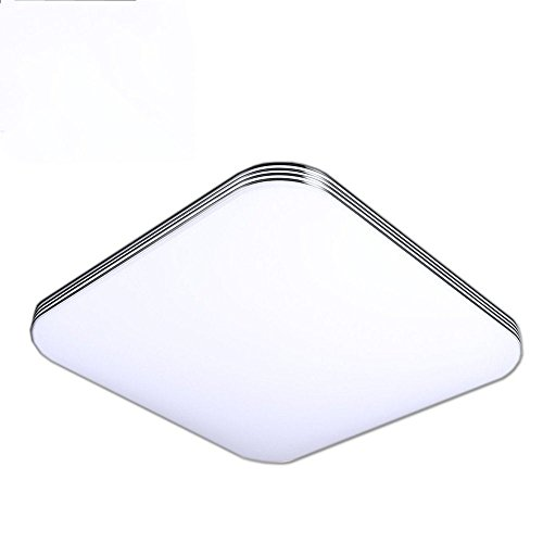 AFSEMOS Flush Mount Ceiling Light,9.5'',24W,1600LM,Modern Square Ceiling Lamp,Cool White,Waterproof LED Panel Light,LED Ceiling Lights for Living Room,Bedroom,Kitchen