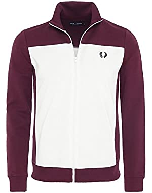 Men's Embroidered Track Jacket Aubergine