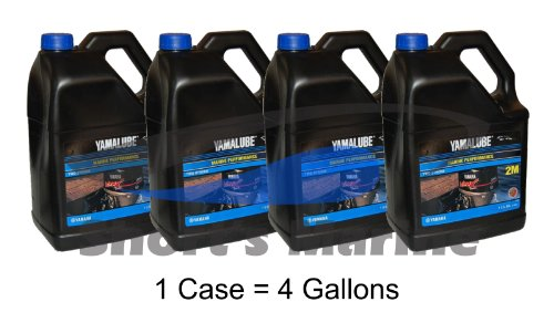 Yamaha Yamalube Outboard Marine Performance 2-Stroke TCW-3 Oil Case of 4 Gallons by Yamaha