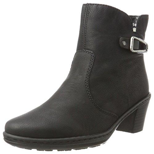 Rieker Women's 74960 Boots, Black, 3.5 UK Black (Schwarz/Schwarz 00)